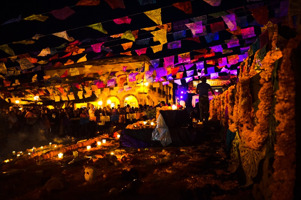 "Modern Day of the Dead Festival in San Miguel de Allende, Mexico, known as ""La Calaca""."
