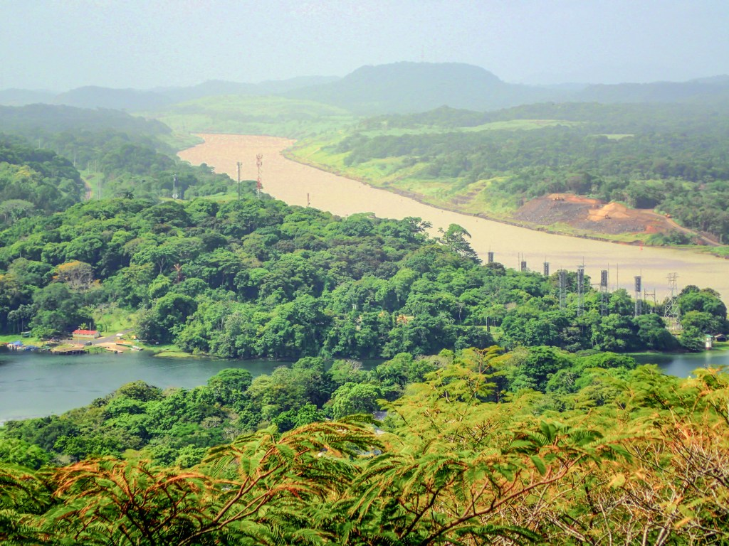 Confluence of Chagres River and the Panama Canal
