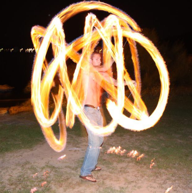 fire spinning how it