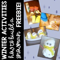 Winter Activities and How to Build a Snowman FREEBIE!!