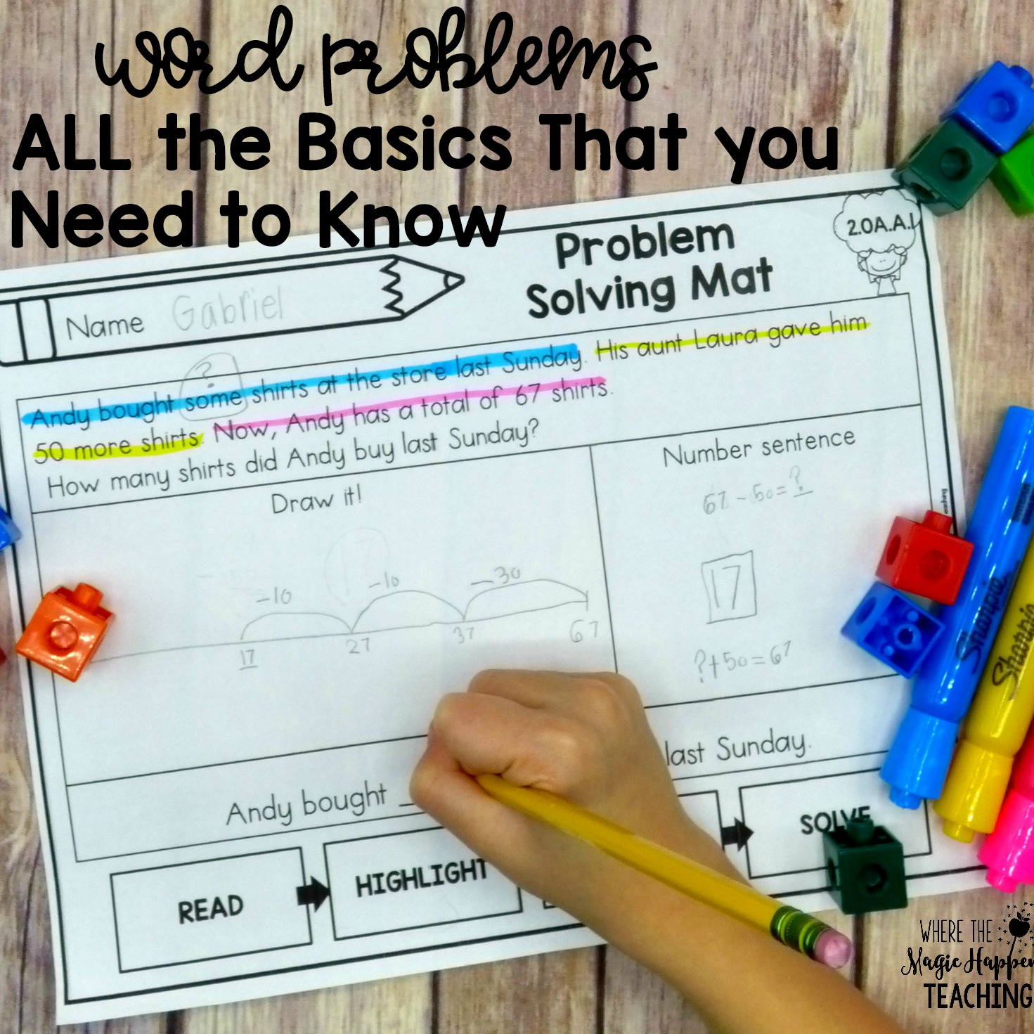 hight resolution of Word Problems for K-2 - Where the Magic Happens