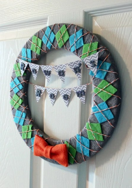 Baby Boy Nursery Wreath