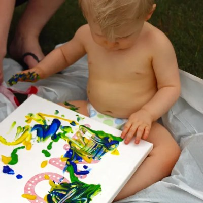 First Birthday Art Canvas: The Start of a Fun Tradition!
