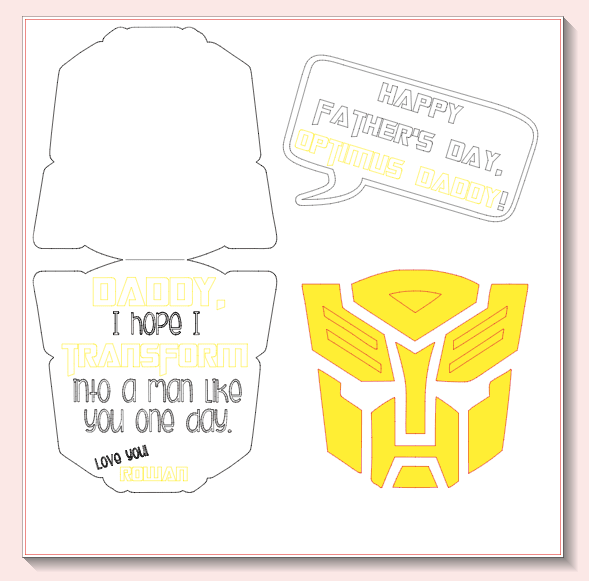 Transformers Father's Day Card