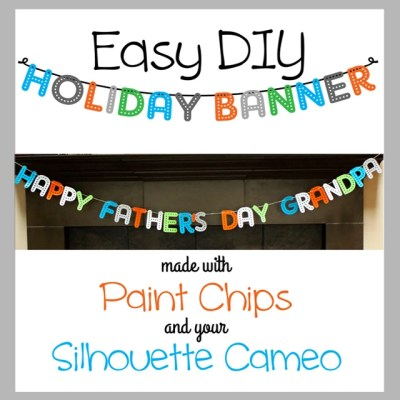 Easy DIY Holiday Banner from Paint Chips!