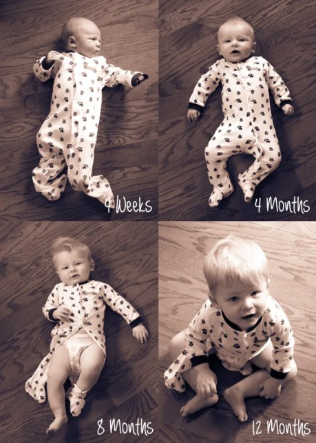 monthly baby photo ideas for babys first year where the smiles have been