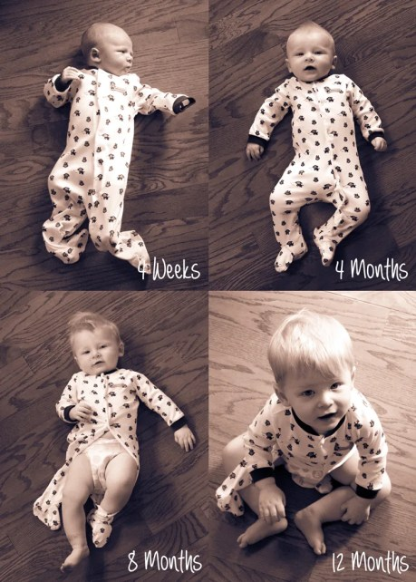 Monthly Baby Photo Ideas for Baby's First Year! | Where The Smiles Have Been #babyphotos #monthlybabyphotos