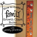 How to Make a Family Growth Chart Ruler