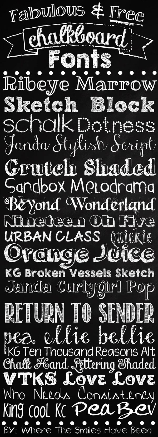 Fabulous Free Chalkboard Fonts