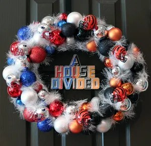 NFL House Divided Ornament Wreath