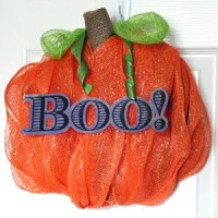 Pumpkin Wreath Tutorial Using Deco Mesh