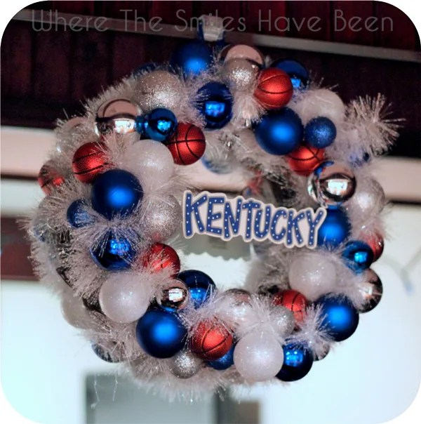 University of Kentucky Basketball Ornament Wreath