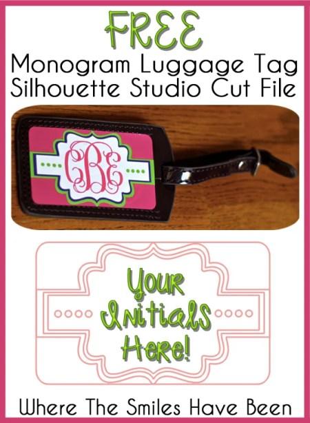 Monogram Luggage Tag (and FREE Cut File)