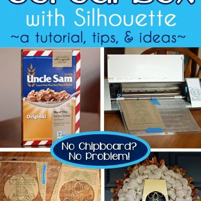 How To Cut a Cereal Box with Silhouette