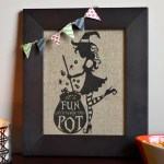 Sassy Witch Printed on Burlap with a Home Printer!
