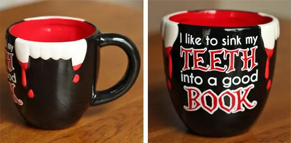 Halloween Gift Exchange: Swapoween Reveal.  Vampire Mug.
