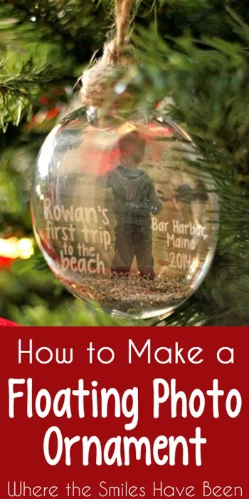 How to Make a Floating Photo Ornament: Baby's First Trip to the Beach!