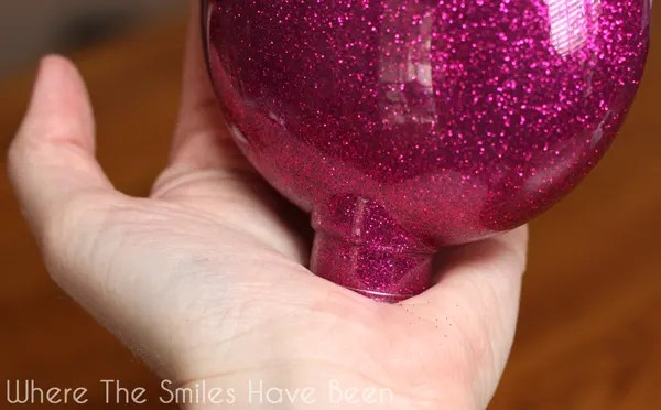 DIY Personalized Glitter Ornaments   Where The Smiles Have Been