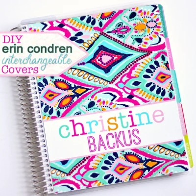 DIY Erin Condren Life Planner Interchangeable Covers | Where The Smiles Have Been #ErinCondren #ECLP #planner