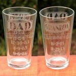 Dual-Sided 'Dad & Grandpa Established' Etched Glass