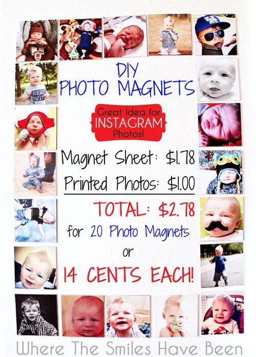 How to Make Photo Magnets: An Easy & Inexpensive DIY!