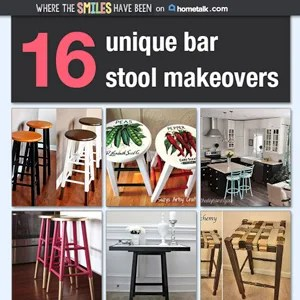 16 Unique Bar Stool Makeovers