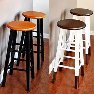 DIY Bronze Dipped Bar Stool Makeover