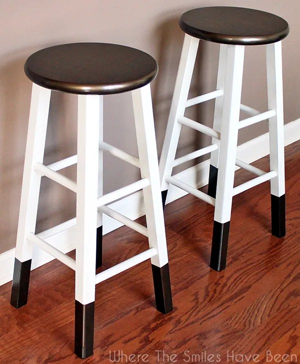 bronze dipped bar stools - Where the Smiles Have Been