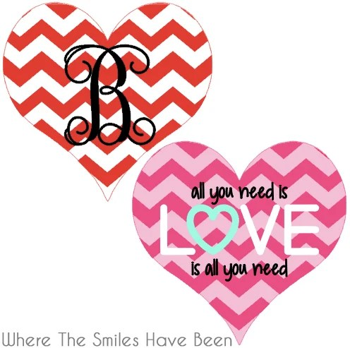 Dual-Sided Valentine's Day Door Hanger   Where The Smiles Have Been