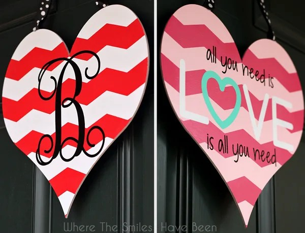Dual Sided Valentineu0027s Day Door Hanger | Where The Smiles Have Been