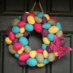 Spring Easter Egg Wreath