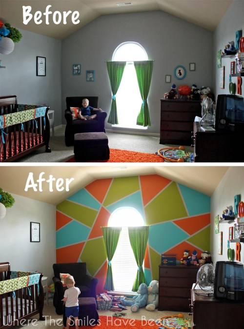 Bright & Bold Accent Wall! | Where The Smiles Have Been