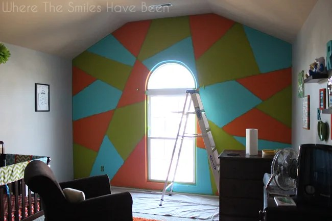 Bright And Bold Accent Wall FrogTape Earn Your Stripes Contest - Bold painted accent walls