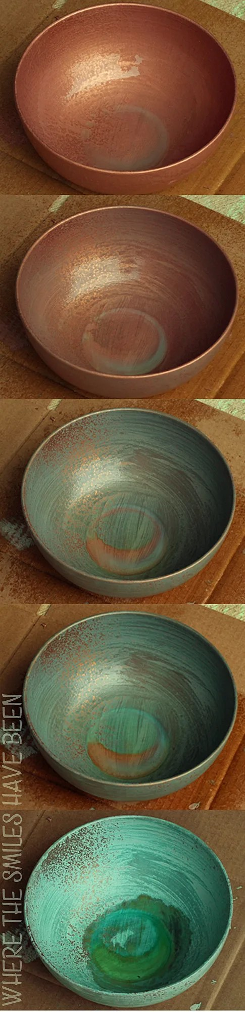 Faux Aged Copper Succulent Planter Housewarming Gift | Where The Smiles Have Been