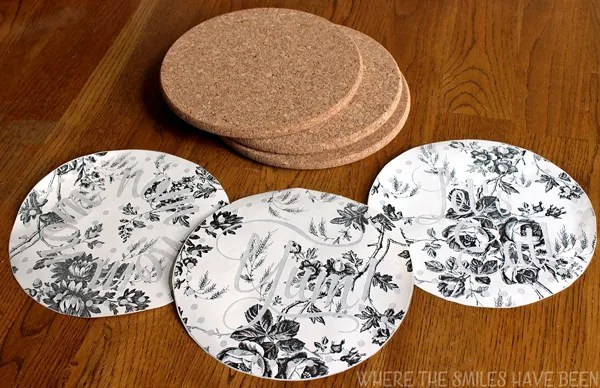 DIY Burned IKEA Cork Trivets: Cheap & Easy IKEA Hack!   Where The Smiles Have Been