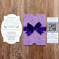 DIY Wedding Invites with a Mobile App and QR Code (and FREE Cut Files!)