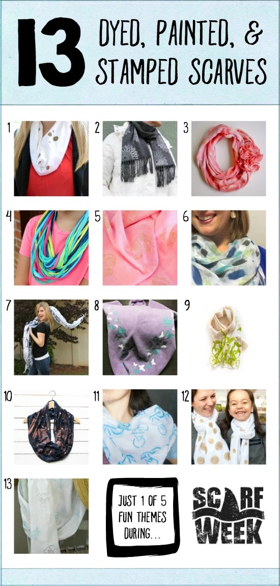 13 Dyed, Painted, & Stamped Scarves |  Where The Smiles Have Been