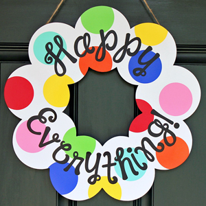 Year-Round Happy Everything Wreath: A Coton Colors Knock Off!