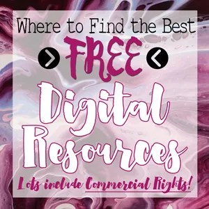 Where to Find the Best FREE Digital Resources: Fonts, SVGs, Clip Art, & MORE!
