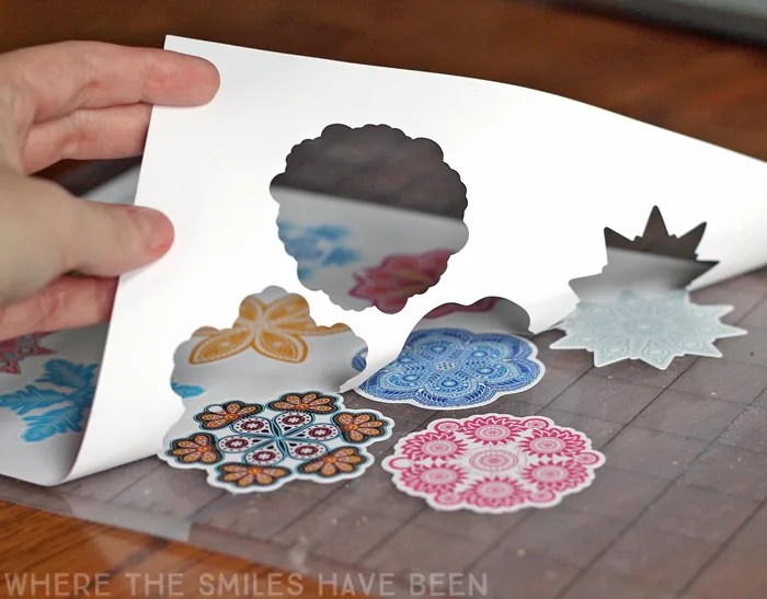 Free Printable Colorful Snowflake Gift Tags! | Where The Smiles Have Been