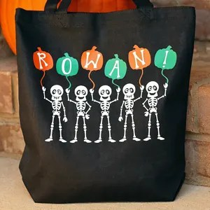 Fun Skeleton Trick-or-Treat Bag that GLOWS in the DARK!