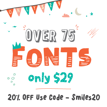 The Hungry JPEG's Fontabulous November Bundle! Save 20% with Code Smiles20!