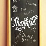 DIY Thankful Chalkboard & Easy Chalk Hand Lettering Cheat!
