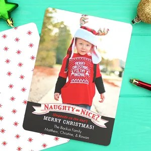 Hilariously Perfect Christmas Card for a Toddler!