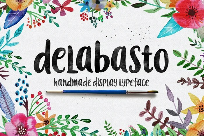The Hungry JPEG's Jam Packed January Bundle: Delabasto Font