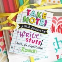Stationery Teacher Gift Idea + FREE Printable Tag & Cut File!
