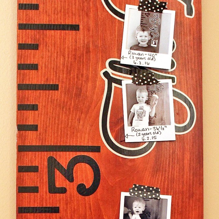 Family Growth Chart Ruler Updated with Yearly Photos + FREE Cut File!