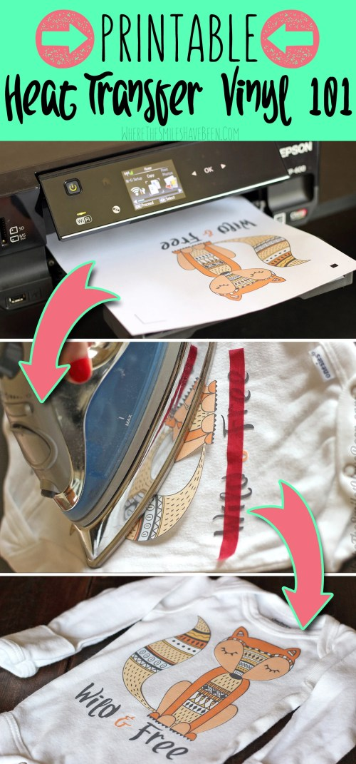 Critical image regarding how to use printable heat transfer vinyl cricut