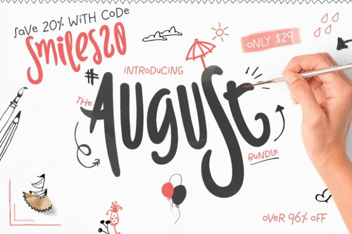Save 20% Off The August Bundle from The Hungry JPEG with Code Smiles20!