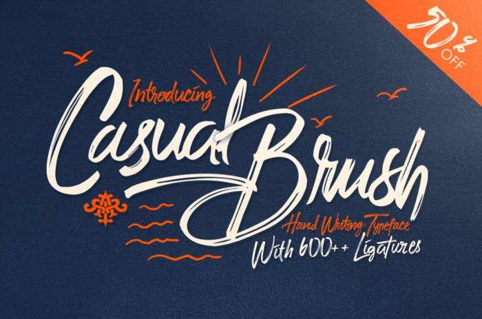 Casual Brush Font from The Hungry JPEG's September Bundle!
